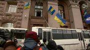 Milicjanci szturmowali ratusz w Kijowie