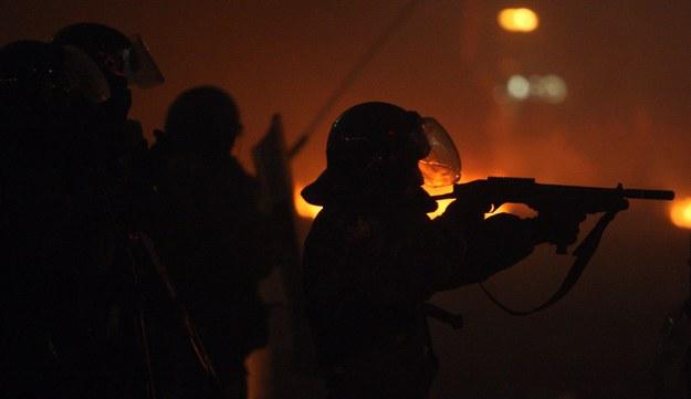 Milicjanci z oddziałów szturmowych /IGOR KOVALENKO /PAP/EPA