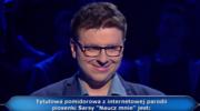 """""""Milionerzy"""": Pytanie o parodię Sarsy za 5 tys. zł"""
