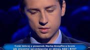"""""""Milionerzy"""": Pytanie o przebój Marka Knopflera za 20 tys. zł"""