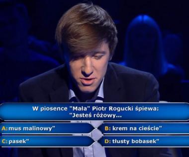 """""""Milionerzy"""": Pytanie o przebój Piotra Roguckiego za 40 tys. złotych"""