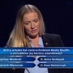 """""""Milionerzy"""": Pytanie za 125 tys. zł o polskiego artystę i Beatę Szydło"""