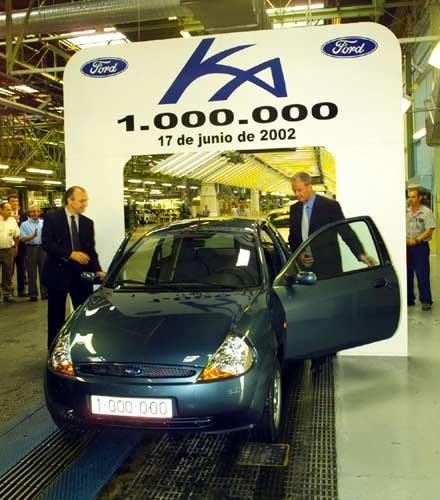 Milionowy Ford Ka w fabryce w Walencji (kliknij) /INTERIA.PL