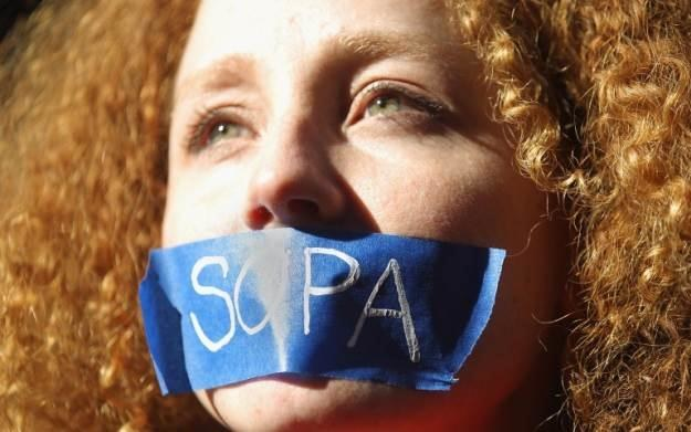 Miliony internautów na całym świecie protestowało przeciwko SOPA /AFP