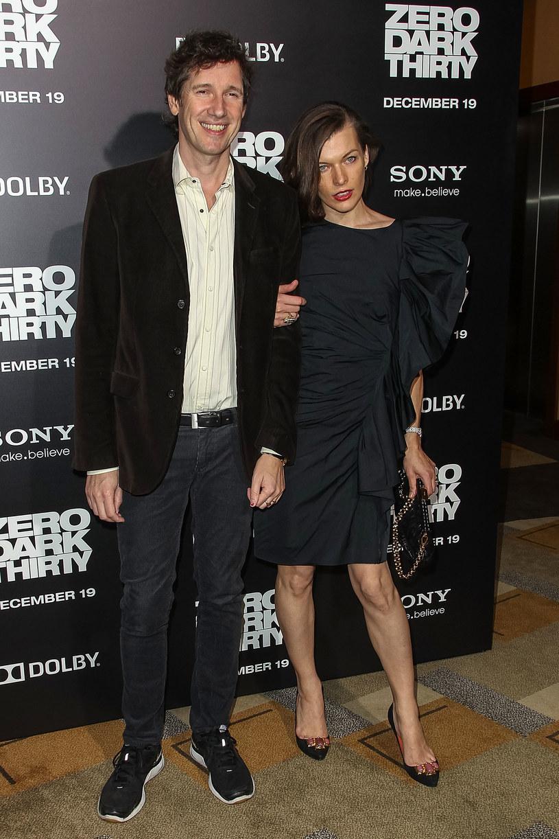 Milla Jovovich z mężem /Paul A. Hebert /Getty Images