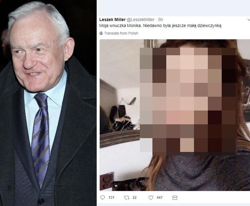 Miller pochwalił się zdjęciem wnuczki na Twitterze! /- /MWMedia