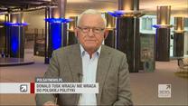 """Miller w """"Gościu Wydarzeń"""" o powrocie Tuska: Strach w obozie PiS-u go w tym umacnia"""