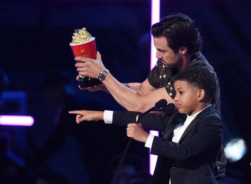 Milo Ventimiglia (Jack) i Lonnie Chavis (Randall) /Kevork Djansezian /Getty Images