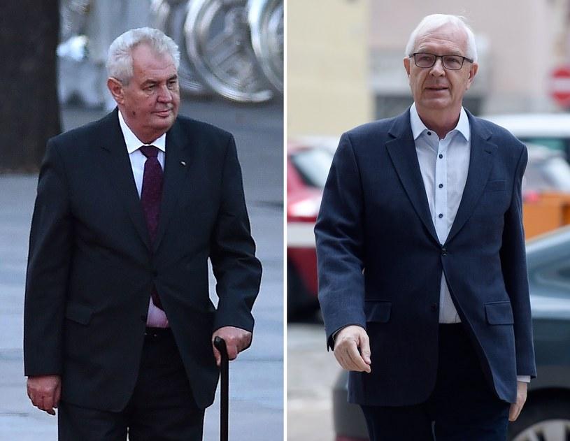 Milos Zeman i Jiri Drahos /AFP