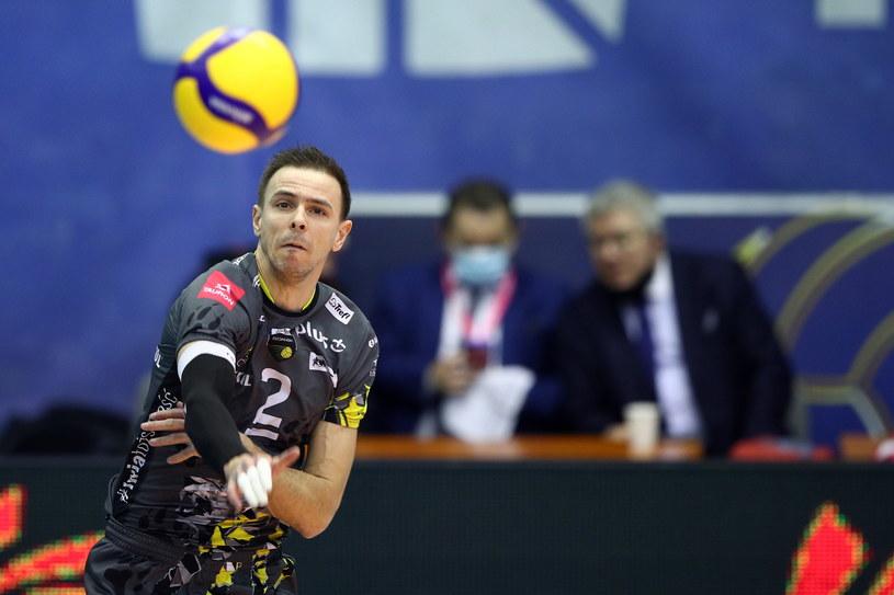 Mimo upływu lat Mariusz Wlazły wciąż imponuje zagrywką /PAP/Łukasz Gągulski /PAP