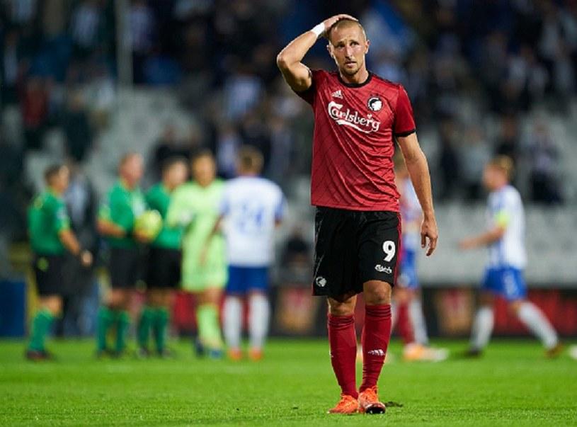 Mimo zdobycia dwóch bramek Kamil Wilczek nie był zadowolony po meczu z Odense /Lars Ronbog / FrontZoneSport /Getty Images