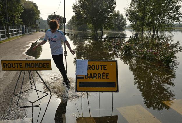Miniony miesiąc był we Francji rekordowym majem pod względem ilości opadów /AFP