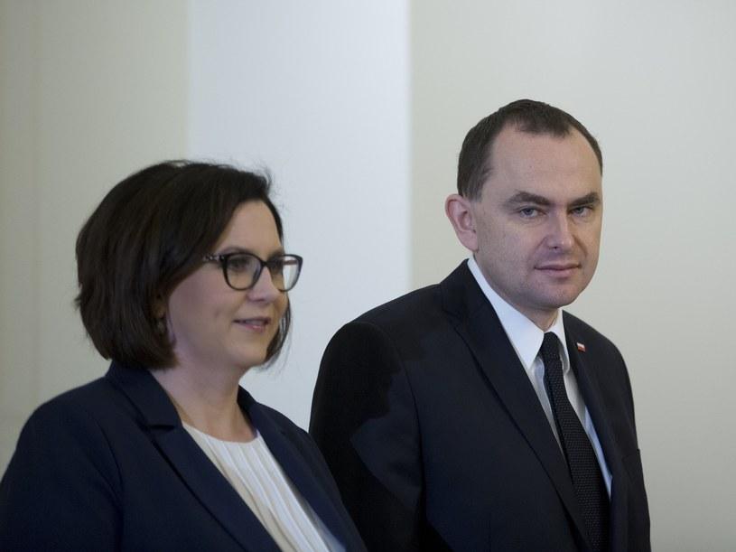 Minister Adam Kwiatkowski i Małgorzata Sadurska /Andrzej Iwańczuk /Reporter