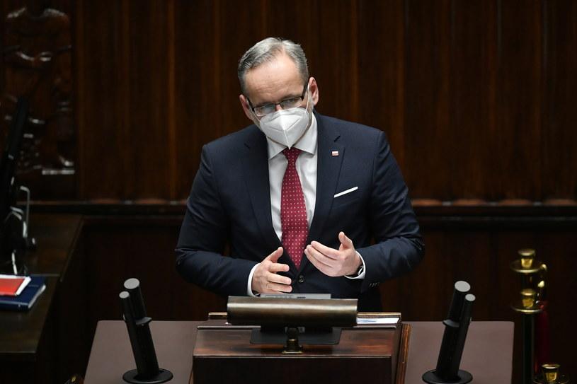 Minister Adam Niedzielski w Sejmie /PAP/Marcin Obara /PAP