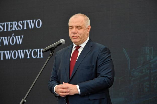 Minister aktywów państwowych Jacek Sasin /Marcin Bielecki   /PAP