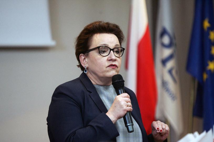 Minister Anna Zalewska w trakcie kampanii /Piotr Krzyżanowski /East News
