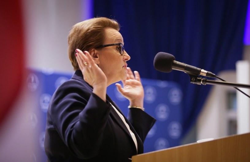 Minister Anna Zalewska /Wojciech Jargilio /Reporter