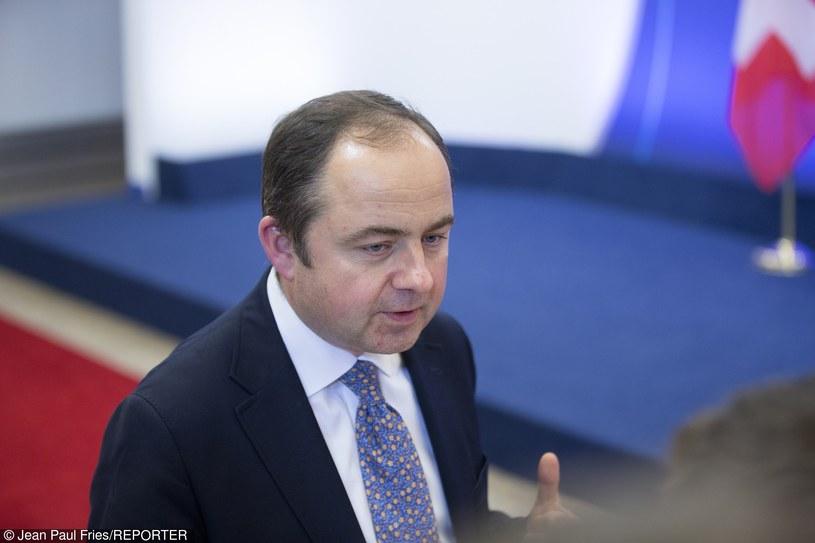 """Minister ds. europejskich Konrad Szymański: """"Kluczową kwestią będzie, czy zalecenia komisji Weneckiej będą zgodne z polską konstytucją"""" /Jean Paul Fries /Reporter"""