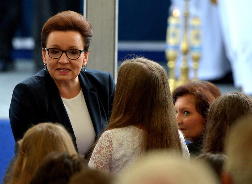 Minister edukacji Anna Zalewska wzięła udział w ogólnopolskiej inauguracji nowego roku szkolnego w Dobrzechowie w woj. podkarpackim /Darek Delmanowicz /PAP