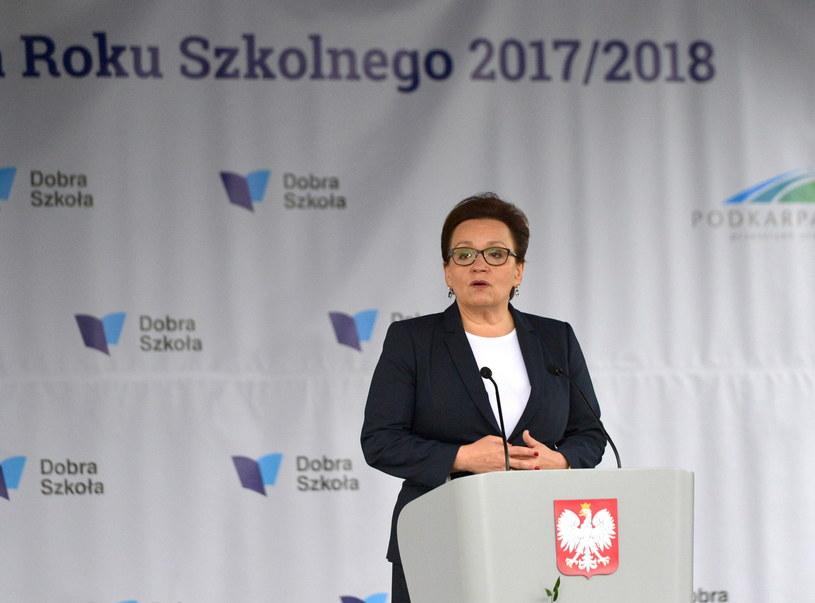 Minister edukacji Anna Zalewska /Darek Delmanowicz /PAP