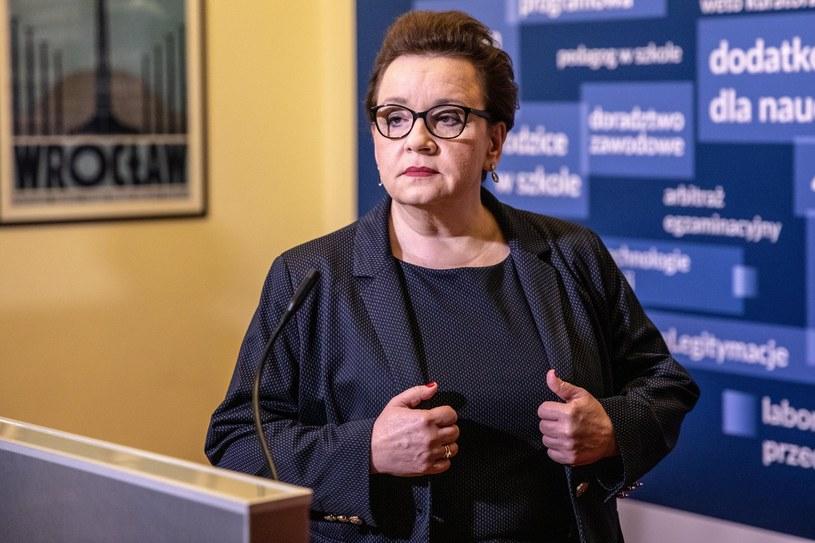 Minister edukacji Anna Zalewska /Grzegorz Banaszak/REPORTER /Reporter