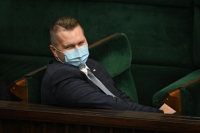Minister edukacji i nauki Przemysław Czarnek w Sejmie / Jacek Domiński /Reporter