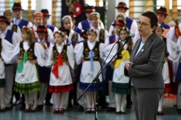 Minister edukacji Katarzyna Hall, fot. Łukasz Ostalski /Reporter