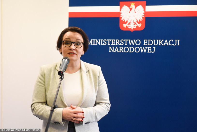 Minister edukacji narodowej Anna Zalewska /Lukasz Gdak /East News