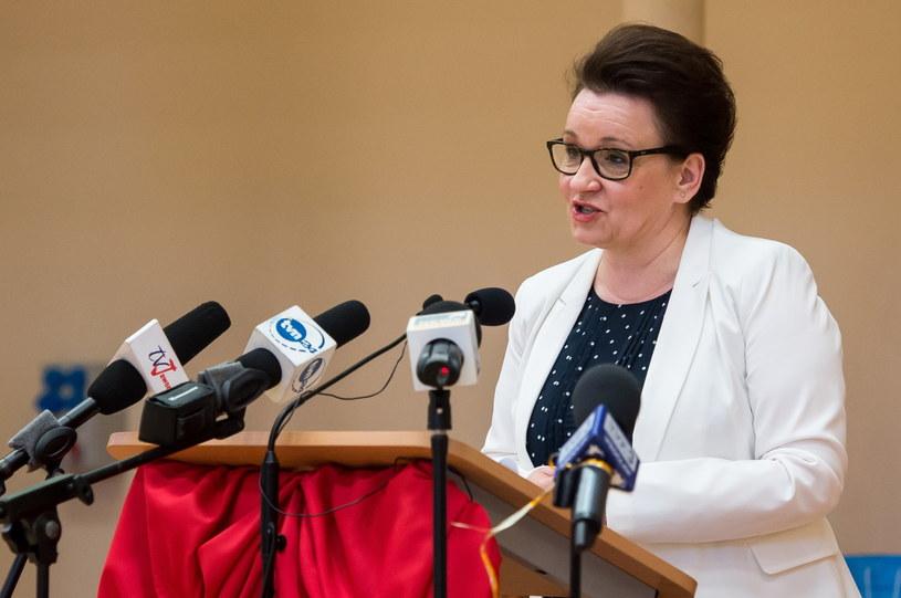 Minister edukacji narodowej Anna Zalewska /Maciej Kulczyński /PAP