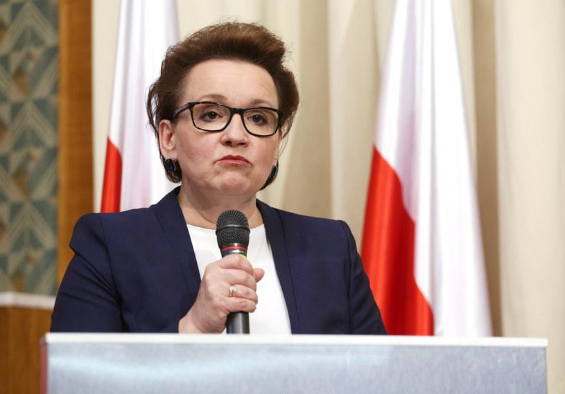 Minister edukacji narodowej Anna Zalewska /Mariusz Grzelak /Reporter