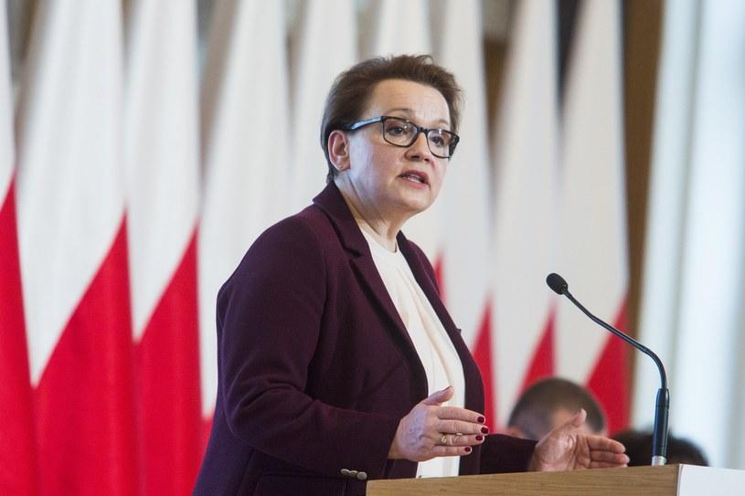 Minister edukacji narodowej Anna Zalewska /Andrzej Hulimka  /Reporter