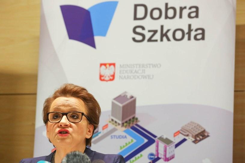 Minister edukacji narodowej Anna Zalewska /Piotr Hukalo /East News