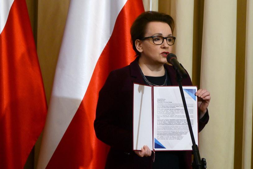Minister edukacji narodowej Anna Zalewska /Jakub Kamiński   /PAP