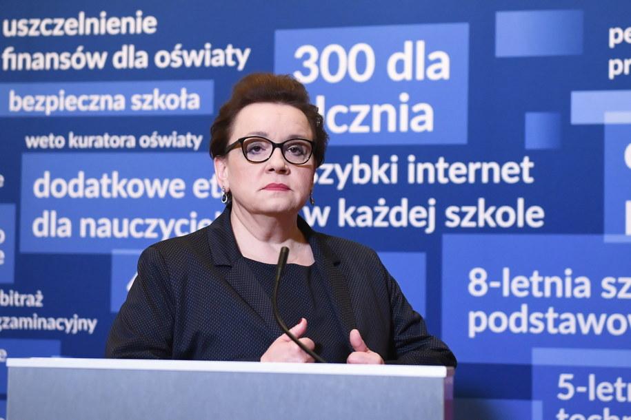 Minister edukacji narodowej Anna Zalewska / Radek Pietruszka   /PAP