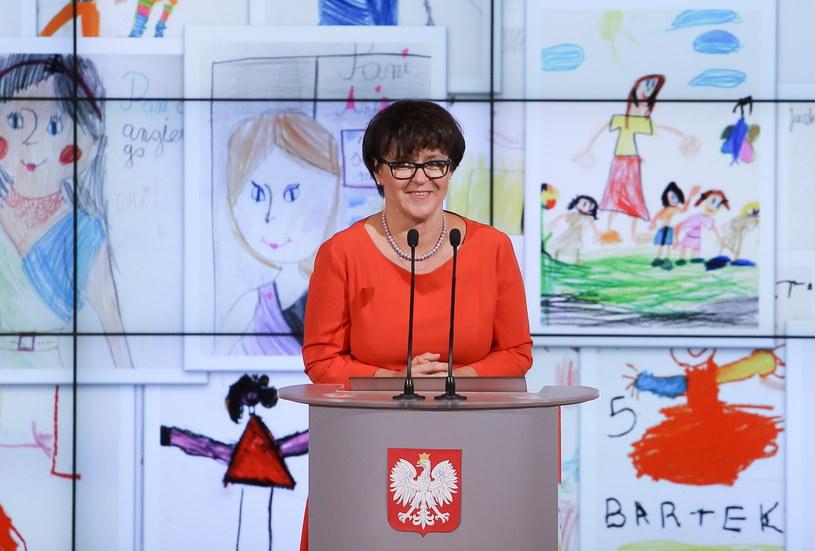 Minister edukacji narodowej Joanna Kluzik-Rostkowska /Paweł Supernak /PAP