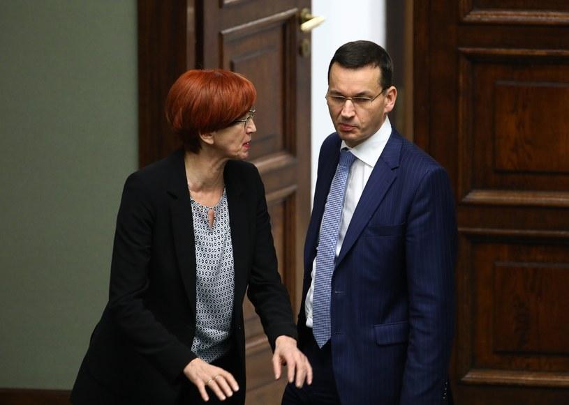 Minister Elżbieta Rafalska i wicepremier Mateusz Morawiecki /STANISLAW KOWALCZUK /East News
