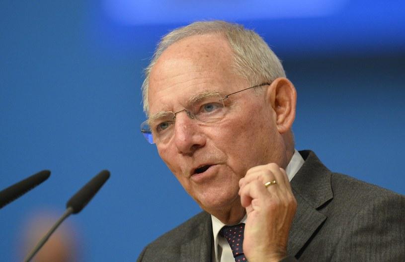 Minister finansów Niemiec  Wolfgang Schaeuble /THOMAS KIENZLE /AFP
