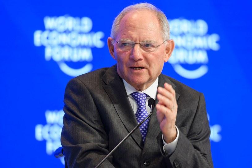 Minister finansów Niemiec Wolfgang Schaeuble /AFP /East News