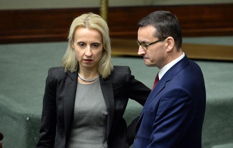 Minister finansów Teresa Czerwińska i premier Mateusz Morawiecki /Jan Bielecki /East News