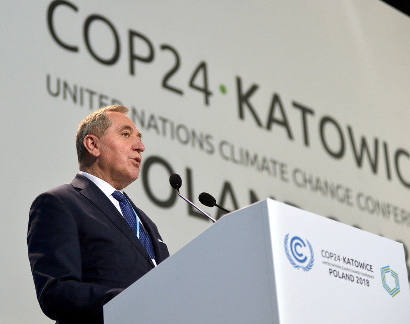 Minister Henryk Kowalczyk na COP24 w Katowicach /LUKASZ KALINOWSKI /East News