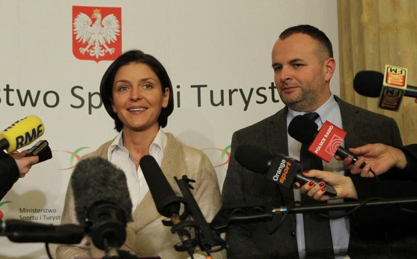 Minister Joanna Mucha ma nadzieję, że Michał Prymas będzie lepiej zarządzał Stadionem Narodowym niż poprzednik. /Radek Pietruszka /PAP