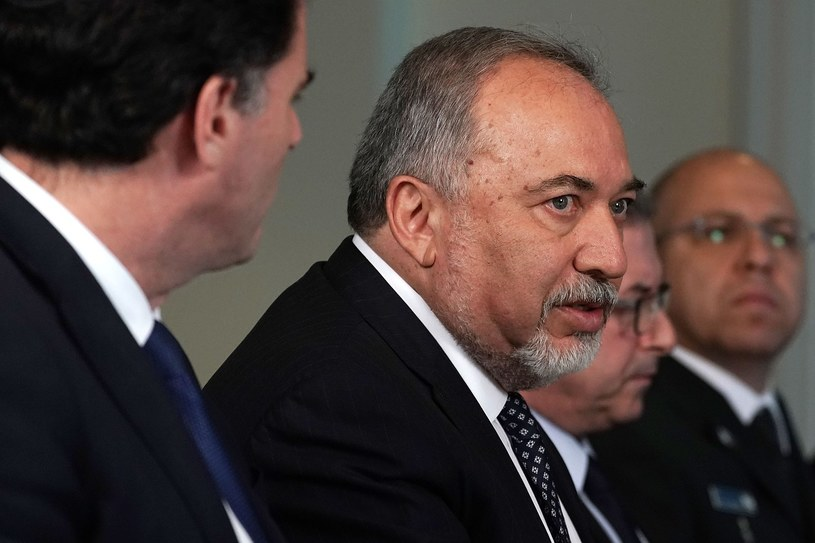 Minister obrony Izraela Awigdor Lieberman /ALEX WONG /AFP
