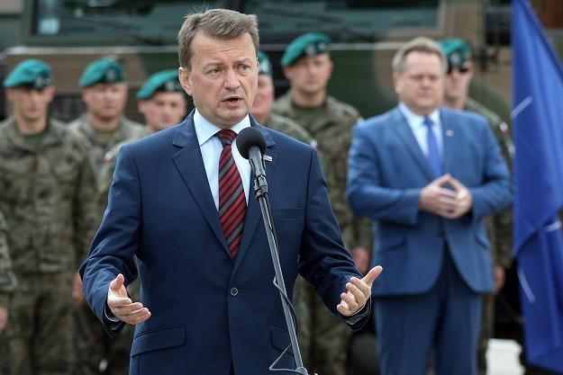 Minister obrony narodowej Mariusz Błaszczak (na pierwszym planie) /PAP