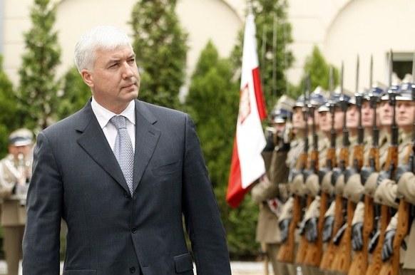 Minister obrony Ukrainy Dmytro Salamatin podczas wizyty w Polsce, 17.05.2012 /Adam Guz /Reporter