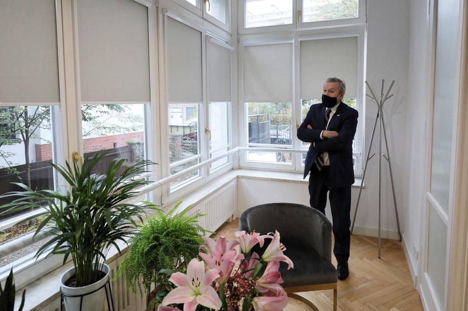 Minister Piotr Gliński podczas otwarcia nowej siedziby Instytutu Polonika /Paweł Supernak /PAP