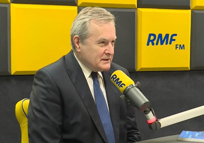 Minister Piotr Gliński w studiu RMF FM /RMF
