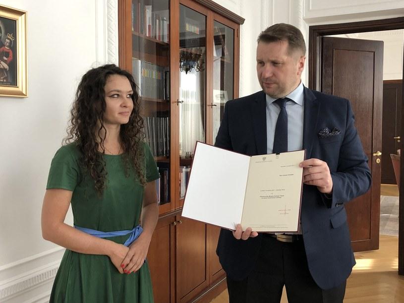 Minister Przemysław Czarnek i Justyna Orłowska /Ministerstwo Edukacji i Nauki /Twitter