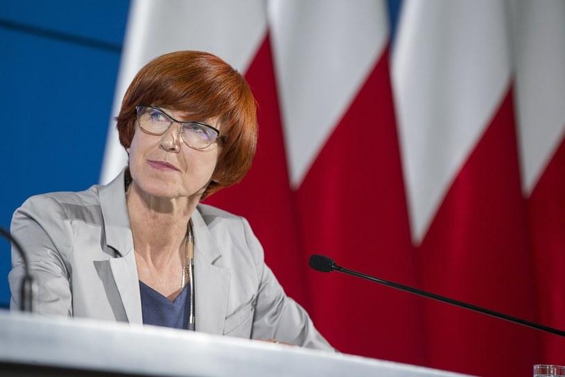 Minister rodziny, pracy i polityki społecznej Elżbieta Rafalska /Andrzej Iwanczuk/ /Reporter