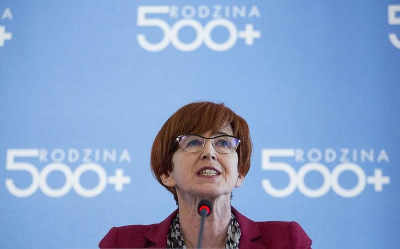 Minister rodziny, pracy i polityki społecznej Elżbieta Rafalska /Andrzej Hulimka  /Reporter