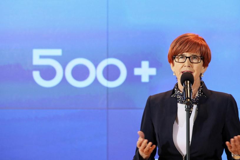 Minister rodziny, pracy i polityki społecznej Elżbieta Rafalska podczas konferencji dotyczącej Programu Rodzina 500+ / Leszek Szymański    /PAP